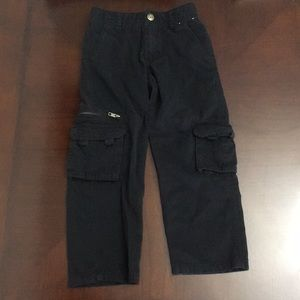 Gymboree boys black cargo pants